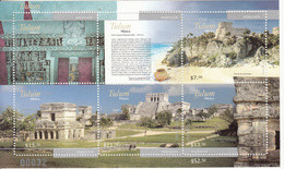 2012 Mexico Tulum Archaeological Site Temples  Miniature Sheet Of 5    MNH - Messico