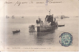 Le Havre L'entree Du Port Pendant Ses Travaux Carte Postale Animee    1907 - Harbour