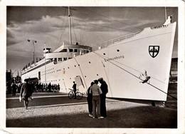 Image Photo Originale Seedienst Ostpreußen, Dampfschiff Tannenberg, Ansicht Steuerbord - Bateau à Vapeur Tannenberg 1935 - Schiffe