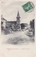 Carte Postale Germaines L'église Et La Mairie - Autres Communes