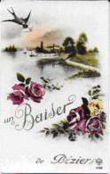 CPA 1942 - Fantaisie : Un Baiser De Beziers ( Hirondelle) - Beziers