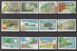 2005 Belize Ecological Sites Definitives Birds Lighthouses   Complete Set Of 12 MNH - Belize (1973-...)