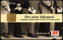 DENMARK - DANMONT - TELEPHONE CARD 100 Kr. - BETALINGSSERVICE - BANK PAYMENT SERVICE - USED - Dominica