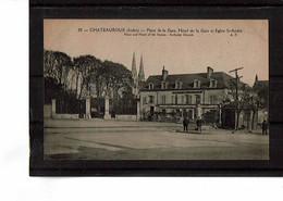 36 - CHATEAUROUX - Place Et Hôtel De La Gare - 1061 - Chateauroux