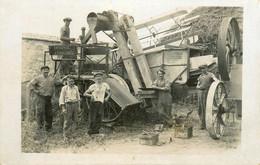 Vigny * Carte Photo * Entreprise J. CHALUMEL * Battage Batteuse Scène Agricole Foins Machines Agriculture - Vigny
