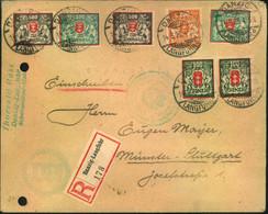 1923, Einschreiben Ab DANZIG-LANGFUHR - Links Gelocht, Bitte Ansehen - Dantzig