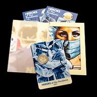 Malte 2021 : 2 Euro Commémorative 'Héros De La Pandémie' (BU En Coincard) - Disponible En France - Malta