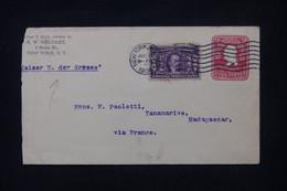ETATS UNIS - Entier Postal + Complément De New York En 1904 Pour Madagascar -  L 104361 - 1901-20