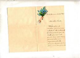 Lettre De Voeux Saint Pourçain 1881 - Unclassified