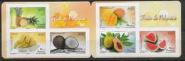2013 Polynésie Française N° C1023 (1023 à 1028) Nf** MNH. Fruits. Ananas, Mangue, Banane, Noix De Coco, Papaye, Pastèque - Cuadernillos/libretas