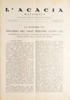 Rivista Illustrata Massoneria - L'Acacia N. 3-4 Anno I - Ottobre 1947 - Autres