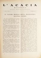 Rivista Illustrata Massoneria - L'Acacia N. 7-8 Anno I - Dicembre 1947 - Autres