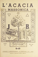 Rivista Illustrata Massoneria - L'Acacia N. 9-10 - Anno III - 1949 - Autres