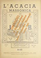 Rivista Illustrata Massoneria - L'Acacia N. 9-10 - Anno II - 1948 - Autres