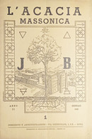 Rivista Illustrata Massoneria - L'Acacia N. 1 - Anno II - 1948 - Autres