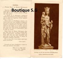 Image Pieuse Croyance Religion Notre Dame De Bonne Delivrance Eglise St Saint Gervais De PAris 1936 Priere - Devotion Images