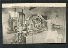 CPA - COZES - Intérieur De L'Usine électrique - Machine Onghence, Animé - Other Municipalities
