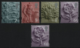 Großbritannien - England 2001-2002 - Mi-Nr. 1-4 & 5 ** - MNH - 2 Ausgaben - Engeland