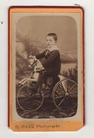 Cdv Vers 1880 Enfant Jouet Ancien - Antiche (ante 1900)