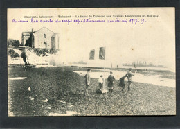 CPA - TALMONT - Le Salut De Talmont Aux Navires Américains (25 Mai 1924), Animé - Other Municipalities