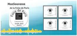 FRANCE  CARNET COLLECTOR FOIRE DE PARIS  2015   NON PLIE TB VOIR SCANS - Collectors