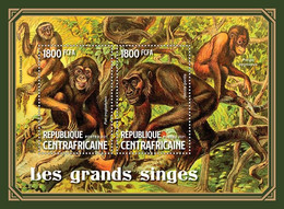 CENTRAL AFRICA 2021 - Primates, Chimpanzee. Official Issue [CA210318] - Chimpanzees