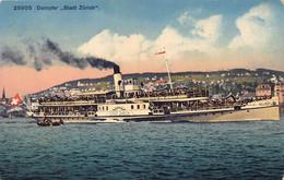 Dampfer Stadt Zürich - Bateau à Vapeur - Steamer - ZH Zurich