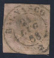 II Emissione - 1853 - 40 C.rosa Annullato - Sardaigne