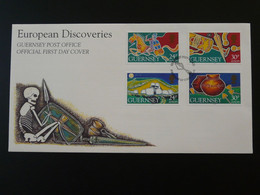 FDC Europa 1994 European Discovery Medieval History Archaeology Guernsey Ref 819 - Archéologie