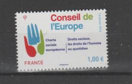 FRANCE / 2016 / Y&T SERVICE N° 168 ** : CONSEIL (Charte Sociale - Droits Sociaux) X 1 - Neufs