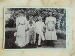 GRANDE PHOTO CDV - HANOI - FAMILLE - Old (before 1900)