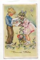Bonne Fête. Couple D'enfants, Gâteau, Fleurs. 1951 - Ohne Zuordnung