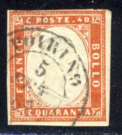 Poirino D.c. Con Rosetta (p.8) Su 40 C. Rosso Mattone Chiaro IV Emissione - Sardaigne