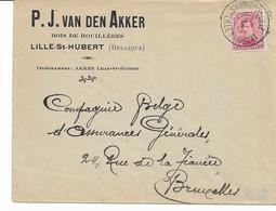 Lettre TP. N° 138 Obl. St.HUYBRECHTS-LILLE Du 5/1/1919 - P.J. VAN DEN AKKER - Bois De Houillères - 1915-1920 Albert I