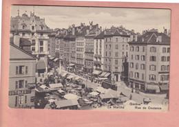 OLD POSTCARD - SWITZERLAND -      GENEVE - RUE DE COULANCE - TRAM - ANIMATED - GE Genève