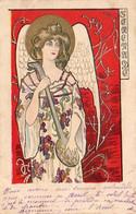 ILLUSTRATEUR  KIESZKOW  SÉRÉNADE   ........... Ange Musicien Jouant De La Mandoline - Andere Illustrators