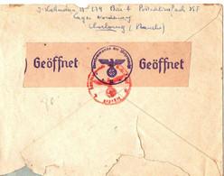 39/45 .LETTRE LAGER NORDERNEY . CHERBOURG + TEXTE . BATTUE DANS LE CAMP ...RARE - Documentos