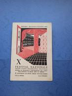 TEATRO-PESARO-X FESTIVAL NAZIONALE D'ARTE DRAMMATICA DELL'ENAL-FG-1957 - Theatre