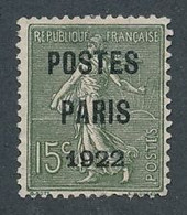 EC-822:FRANCE: Lot Avec  Préo N°31 NSG ( Aminci En Haut) - 1893-1947