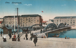 LETTONIE - LIBAU - HANSABRÜCKE - STEMPEL K.D. FELDPOSTSTATION N°168 - 1916 - Latvia