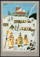 F3115 - TOP Lada Lady Glückwunschkarte Weihnachten Weihnachtskrippe Krippe - Winterlandschaft - Unclassified