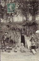 HARGNIES-- TRES BEAU PLAN - Pêcheurs De Truites Habitant Avec Sa Famille Une Hutte Dans Les Bois - Other Municipalities