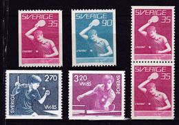 SE435B – SUEDE – SWEDEN – 1967-85 – TABLE TENNIS – SG # 528→1245 MNH 8 € - Ongebruikt