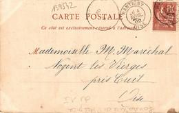 N°13954 Z -cachet Manuel Rantigny -Oise- 1902- - Handstempel
