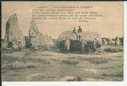 Carnac Les Alignements De Kermario Pays Des Menhirs Gigantesque Botrel - Carnac