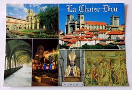 972/CPM - 43 La Chaise-Dieu - Multivues - Abbaye Saint-Robert - Vue Générale - Buste De St-Robert - Tapisserie - La Chaise Dieu