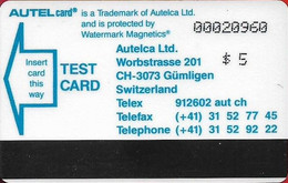 USA - Autelca - Autel Card Iowa Trial, 5$, 1991, 2.000ex, Used Or Mint; - [3] Magnetic Cards