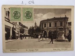 Cpa écrite En 1919 Bucarest Bukarest St.-George-Platz Plaja Situ Gheorghe, Animée, éd Monopol Kunstdruck, Roumanie - Romania