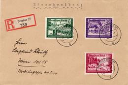 R - Brief Deutsches Reich  Mit Marken Aus Dem Kameradschaftsblock - Sin Clasificación