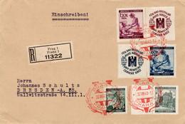 R - Brief Deutsches Reich Böhmen Und Mähren - Sin Clasificación